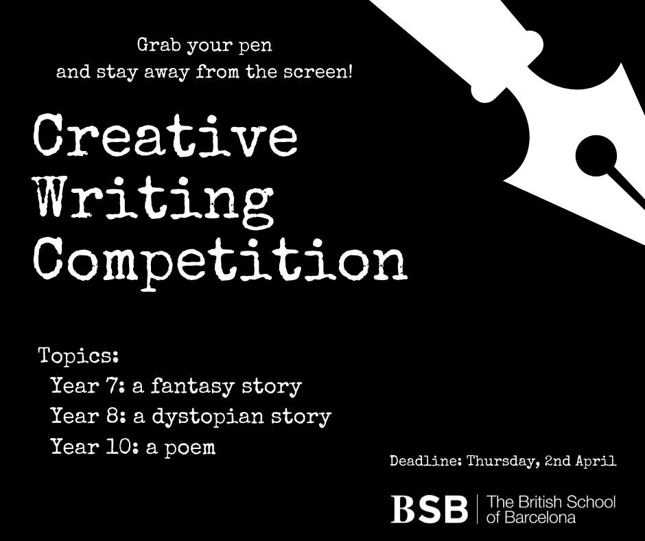 Screen-Free Ideas: Creative Writing Competition