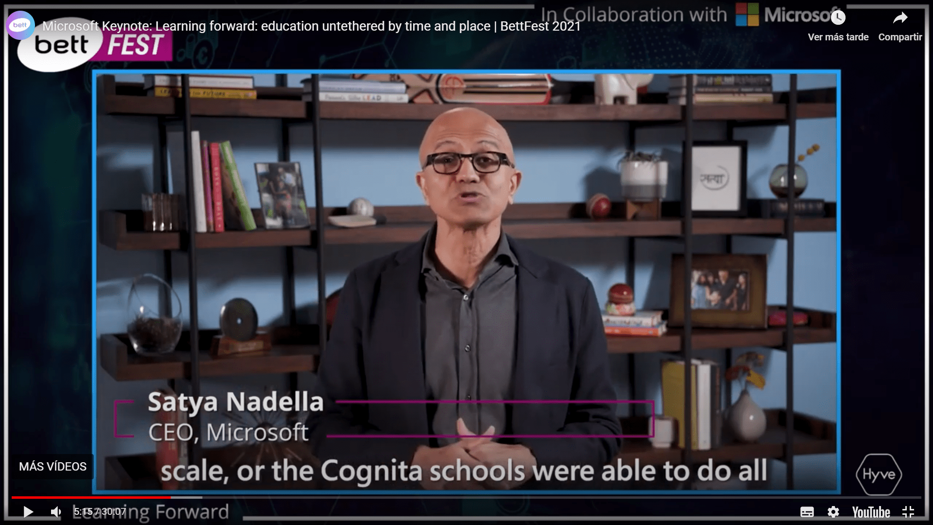 CEO Microsoft highlights the incredible work done by Cognita Schools during pandemic